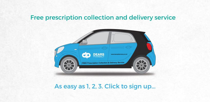 Dears Pharmacy Free Prescription Collection and Delivery