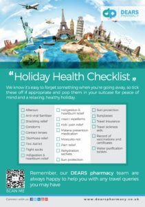 Dears Pharmacy Travel essentials advice