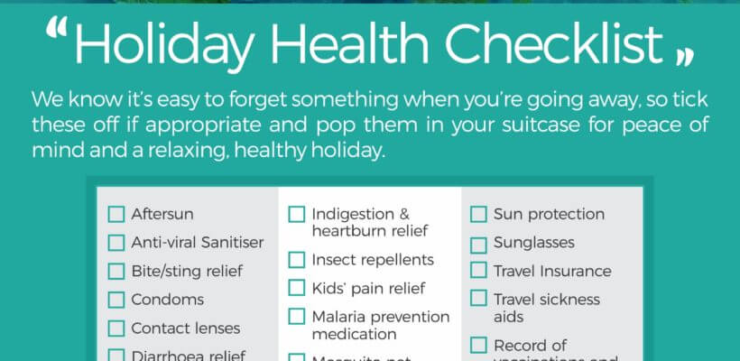 Dears Pharmacy Travel essentials advice