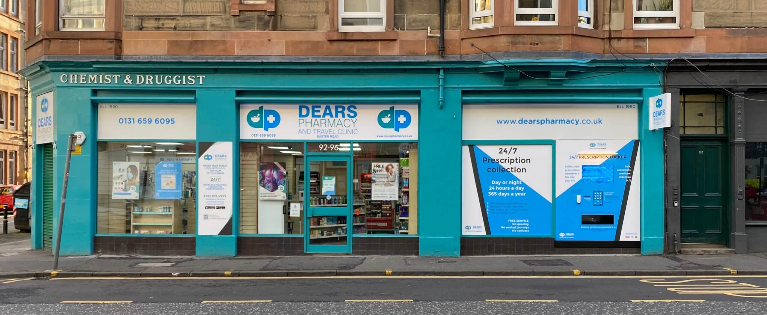 Dears Phamacy Easter Road Edinburgh Prescription Locker